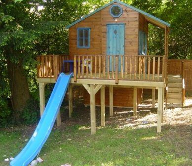 on raised playhouse plans with loft