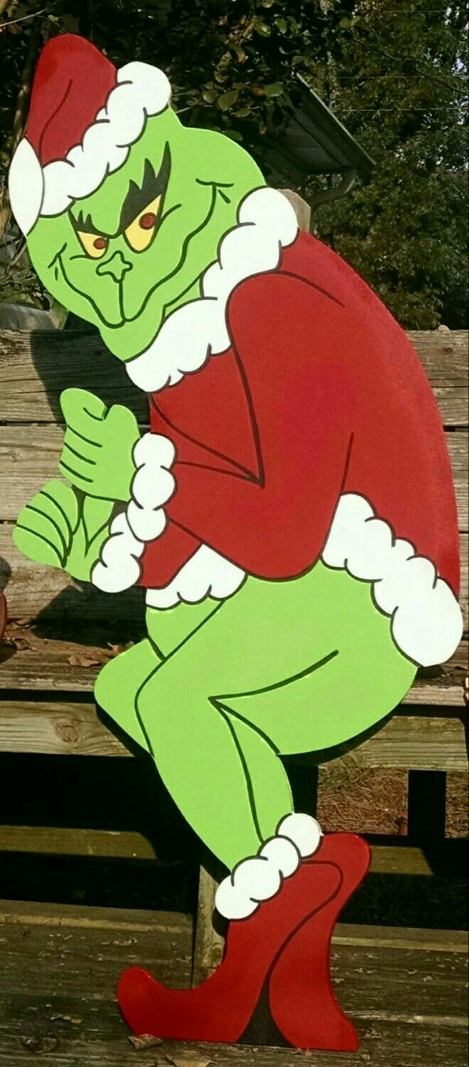 Grinch stealing lights christmas decorations - Grinch Stealing The Christmas Lights Yard Art Christmas Decoration Grinch Yard Art Max Yard