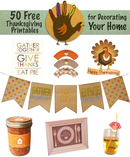 graphic relating to Thanksgiving Printable Decorations known as 50 No cost Thanksgiving Printable DecorationsBuildDirect Weblog