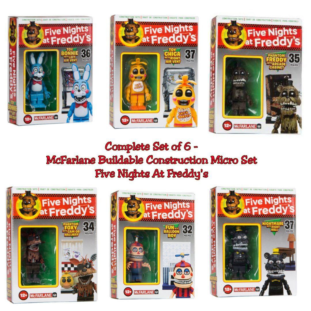 More five nights at freddy s construction sets coming soon - Complete Set Of 6 Five Nights At Freddy S Mcfarlane Buildable Construction Micro Set Toy