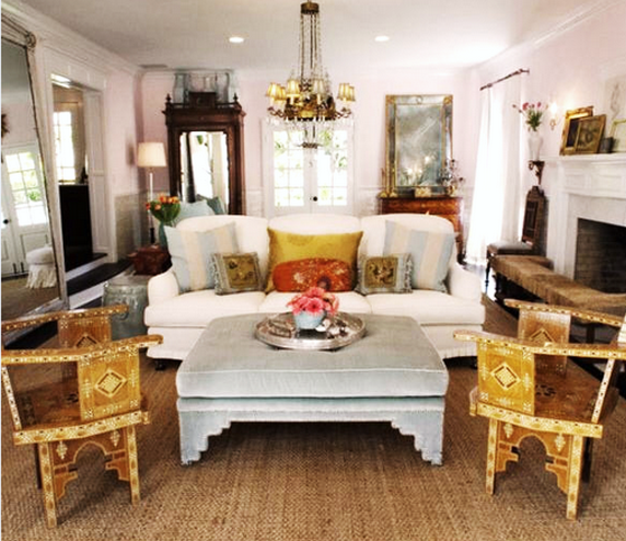 Jute Rug White Couch Chandelier Fancy Old Wardrobe