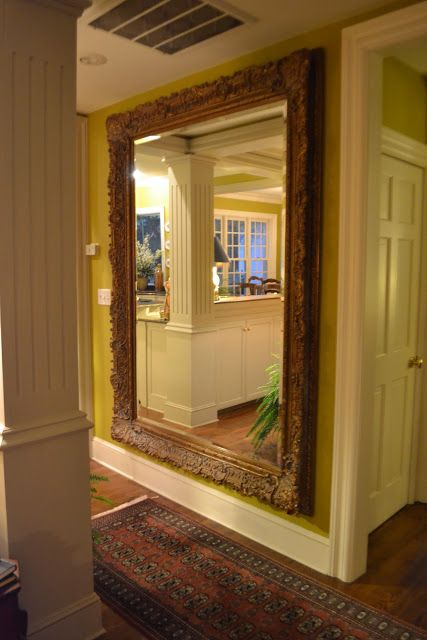 Massive Floor-to-Ceiling Hall Mirror - great way to fill a wall and ...