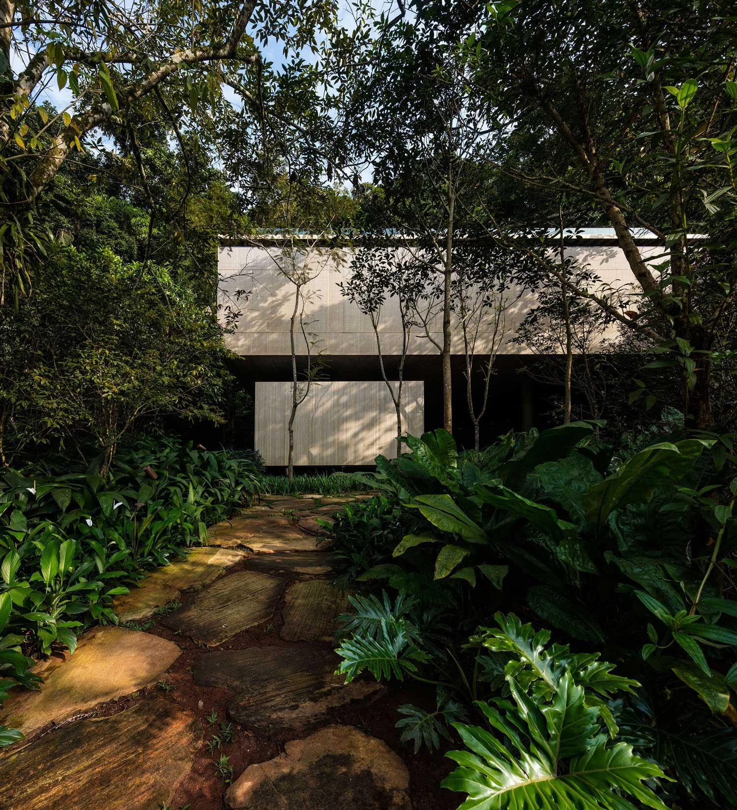 Open layout house concept by studio mk27 - Jungle House Casa Na Mata By Studio Mk27