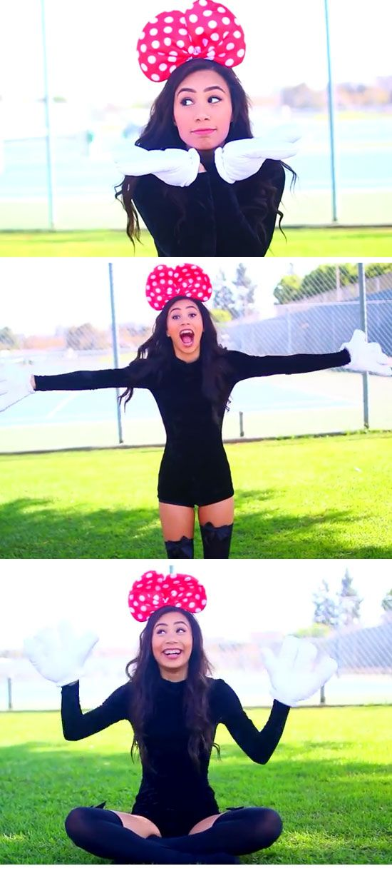 Last Minute DIY Halloween Costumes for Teens Minnie Mouse - halloween teen costume ideas
