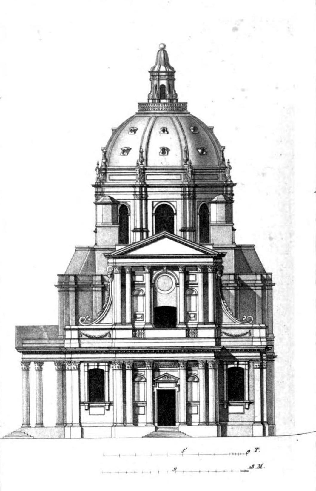 Elevation Of The Chapelle De La Sorbonne Paris