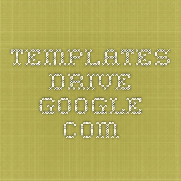Templates drivegoogle DIY Cookbook Pinterest - google spreadsheet login