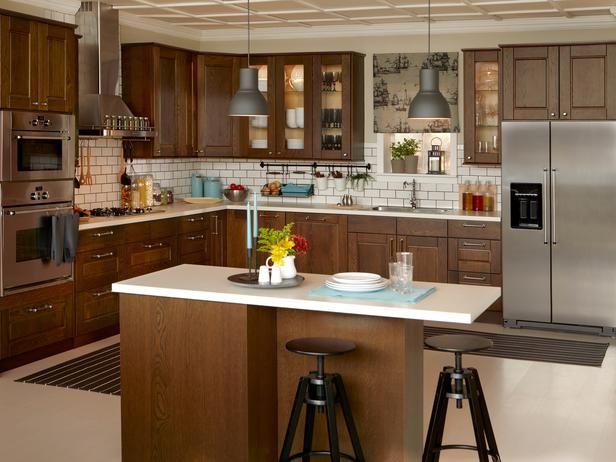 Good Ikea LIxtorp Kitchen Stainless Appliances Dark Cabinets Light Countertops  Subway Tile Backsplash