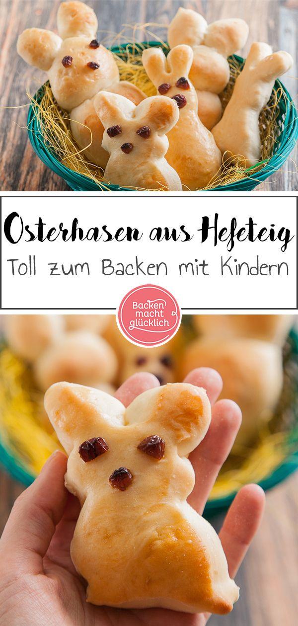 Osterhasen aus Hefeteig | Backen macht glücklich