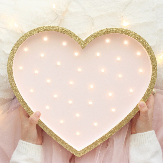 This Sweet Pink Heart Night Light Is A Great Choice For Your