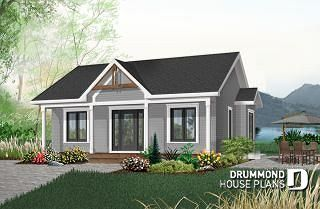 Quebec small cabin style house plan with bedrooms covered front porch unfinished daylight basement other options  also rh pinterest
