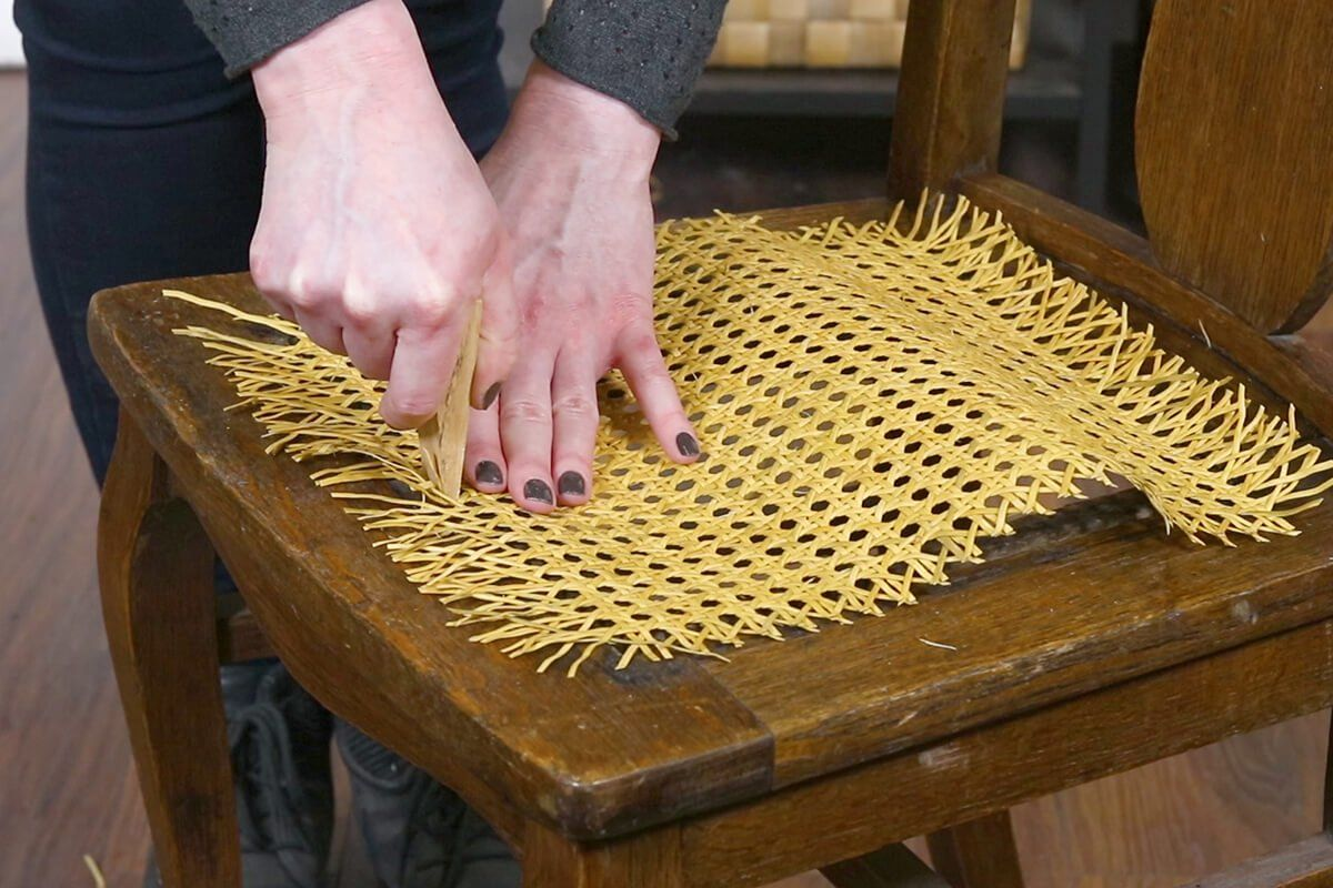 How to replace pressed cane webbing ofs makers mill