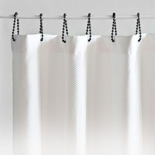 Lanai White Pique Shower Curtain By Matouk