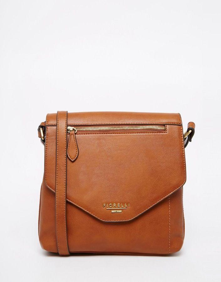 Fiorelli Flapover Cross Body Bag - Tan  9ce9d7a0886a1