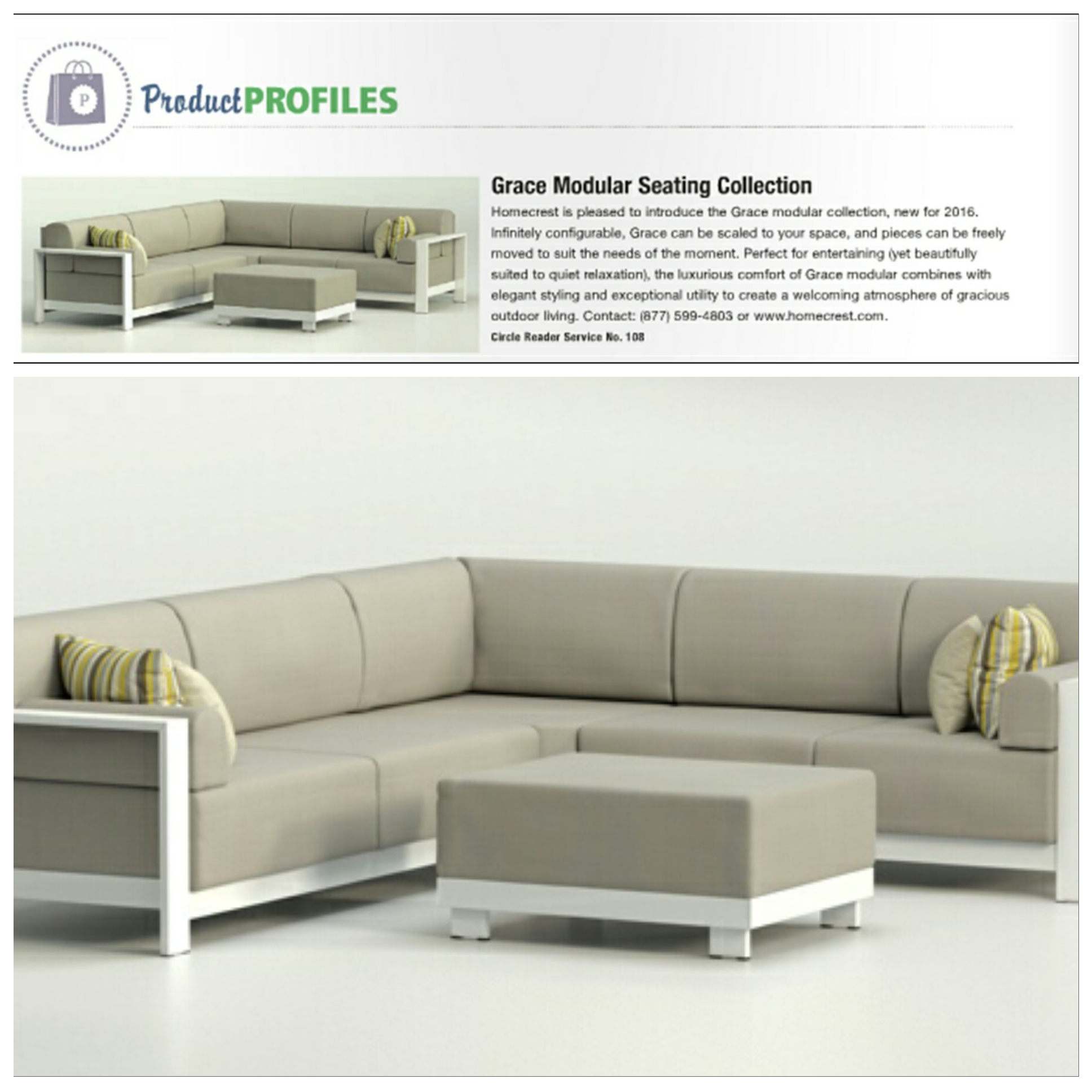 Several Homecrest products are featured in the July issue of Patio ...