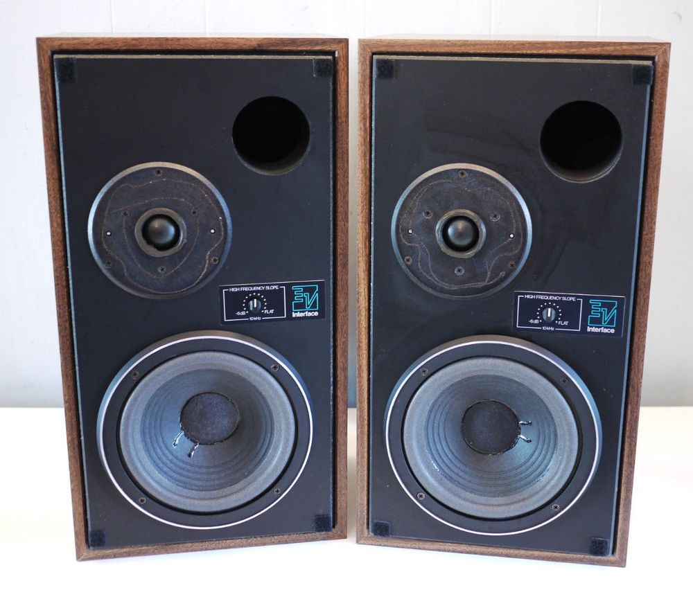 VINTAGE EV ELECTRO VOICE INTERFACE1 SERIES II BOOKSHELF SPEAKERS MONITORS Rm ElectroVoice