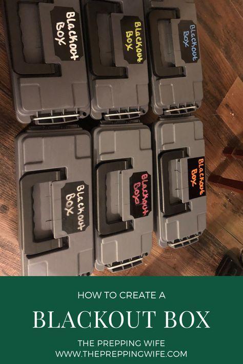 Blackout Box Emergency Preparedness Kit Emergency Preparedness