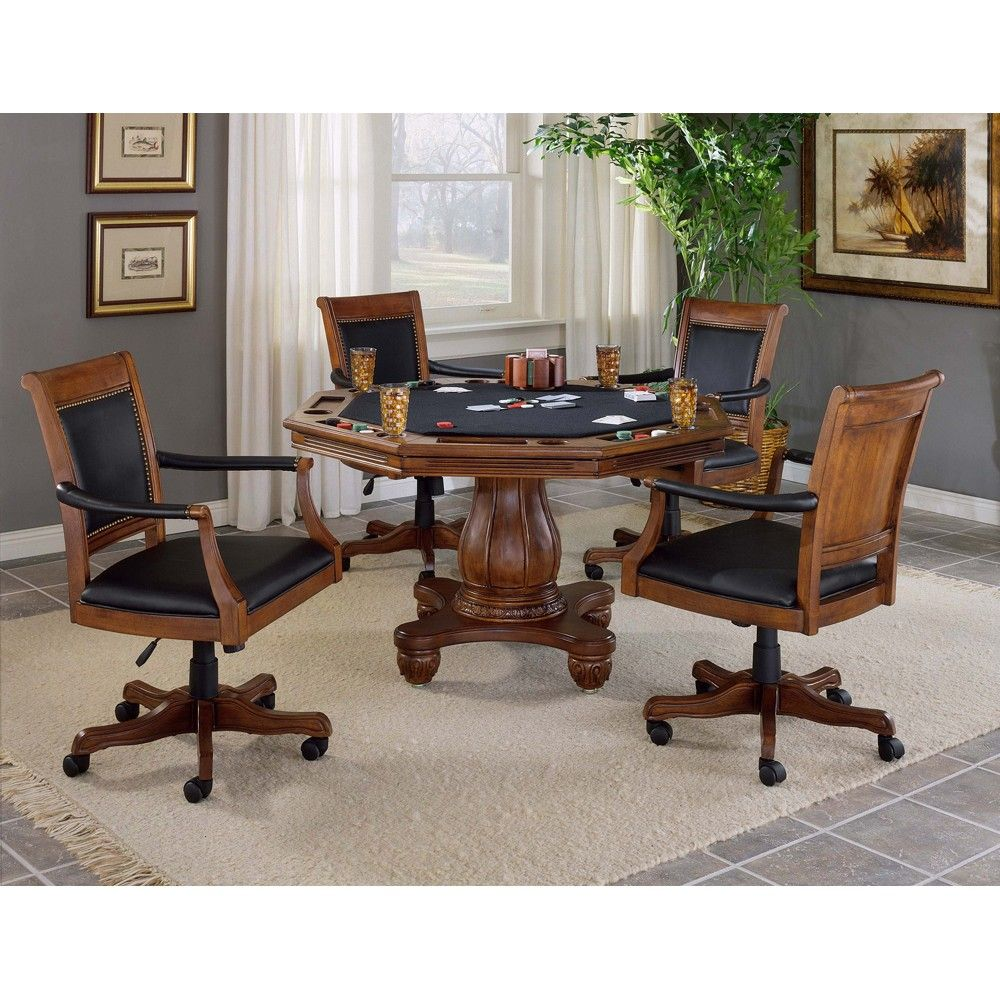 Kingston Wood Game Table And Chairs In Light Cherry By Hillsdale Furniture