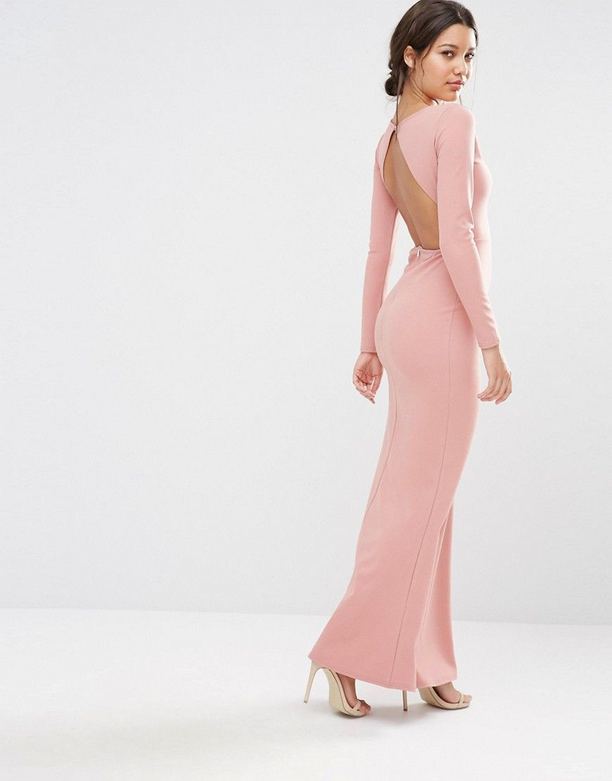 Backless maxi dress asos