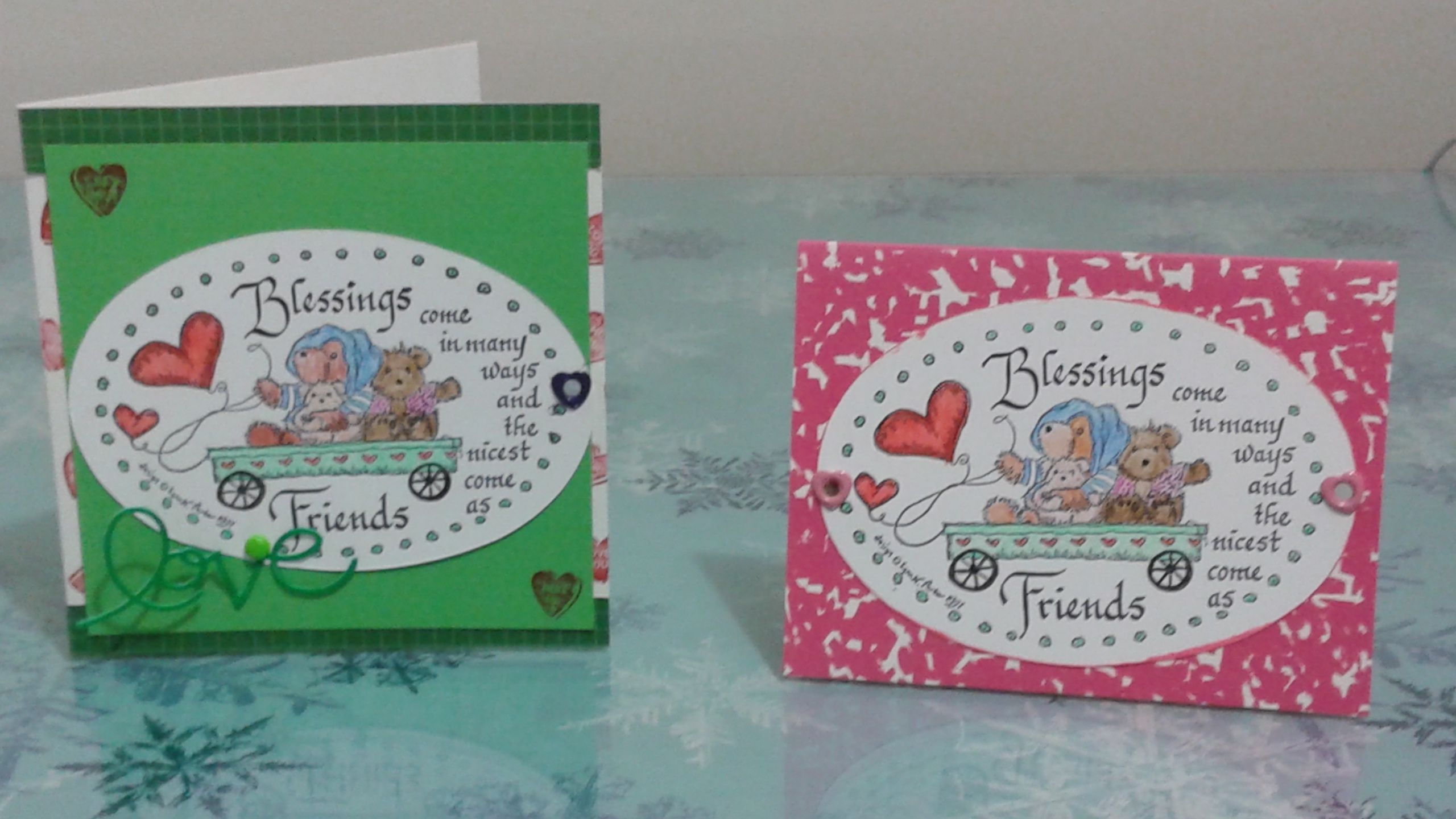 My Littlest Grandson 6 Months Old Needed Cards For His Two
