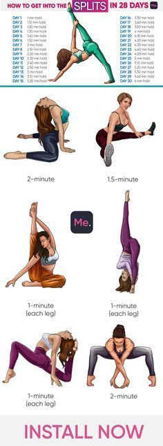 How do I get into the splits in 28 days? - Yoga & fitness -  How do I get to the splits in 28 days?...