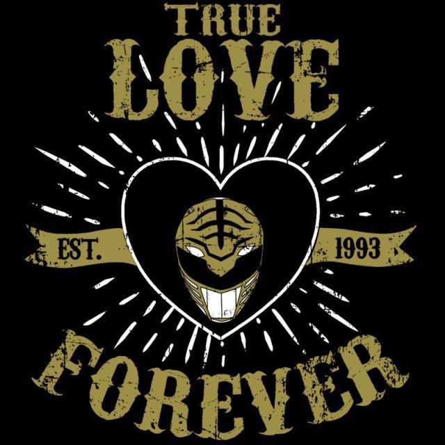True Love Forever White T Shirt 1299 Power Rangers Tee At Pop Up