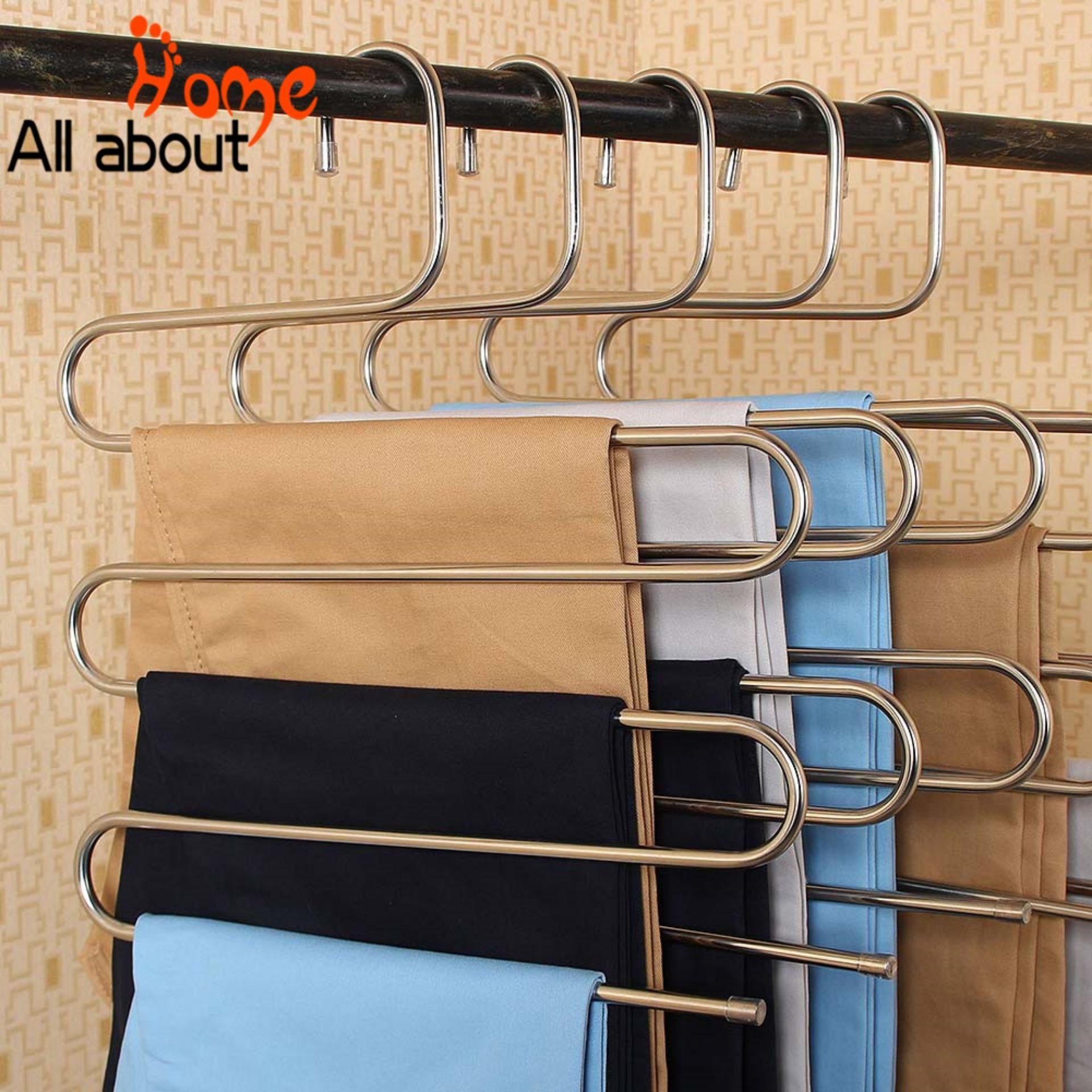 Multi Magic 5 layer Non-Slip Blouse Hanger Coat Tops Trouser Storage Rack Holder