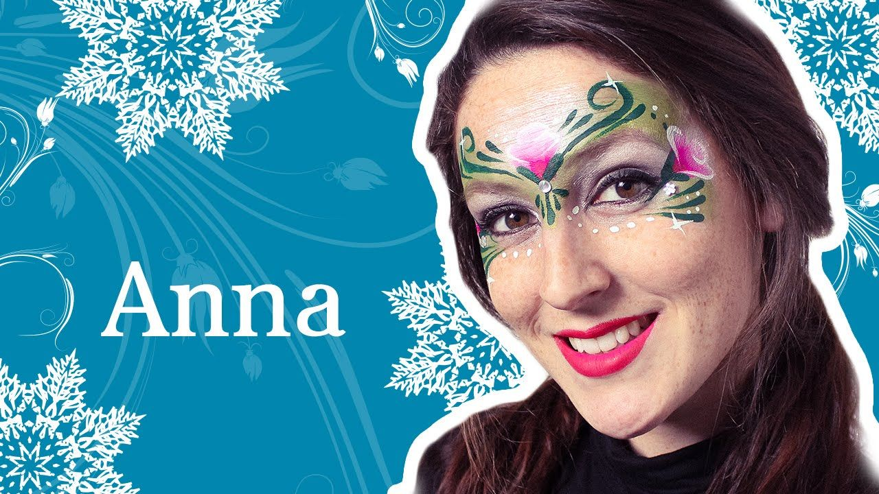 Princess anna frozen face painting tutorial frozen party 276f16478d5a9610e45a67c5ee273e93g baditri Image collections