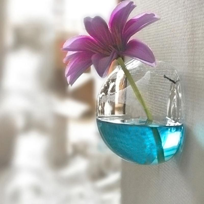 Hanging Semicircle Crystal Flower Vase Hydroponic Container Home