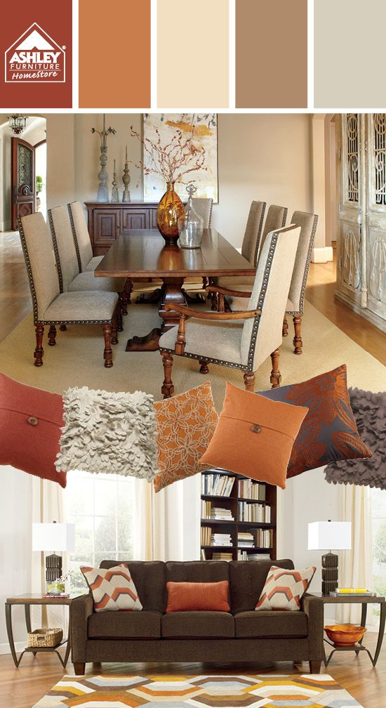 Great Palette For A Tuscan Style Look Ashley Furniture Homestore Living Roon Living Room Decor Home Furniture