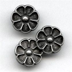 "Flower Petal Shape, Metal Shank Button, 5/8""   Benno's Buttons & Trimmings"
