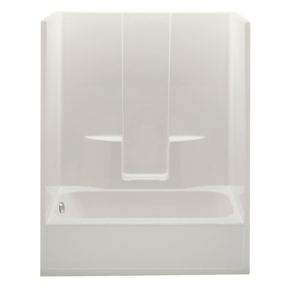 Aquatic Everyday 60 In X 34 5 In X 76 5 In 1 Piece Bath And