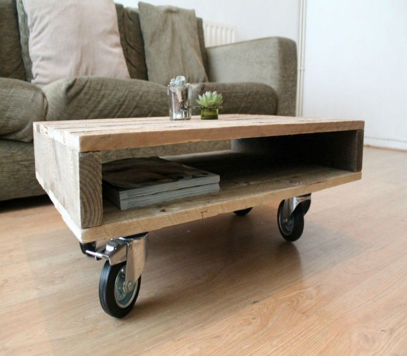 Wooden Pallet Coffee Tables On Wheels Wooden Pallet Coffee Table Coffee Table With Wheels Coffee Table