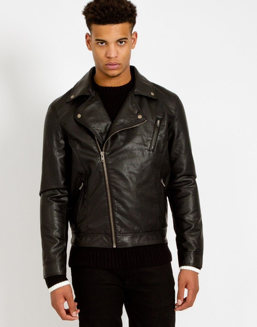 Men faux leather jackets - Cheap online clothing stores ...
