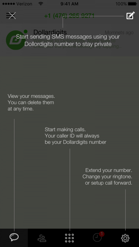 Start sending and making call with your Dollar Digits