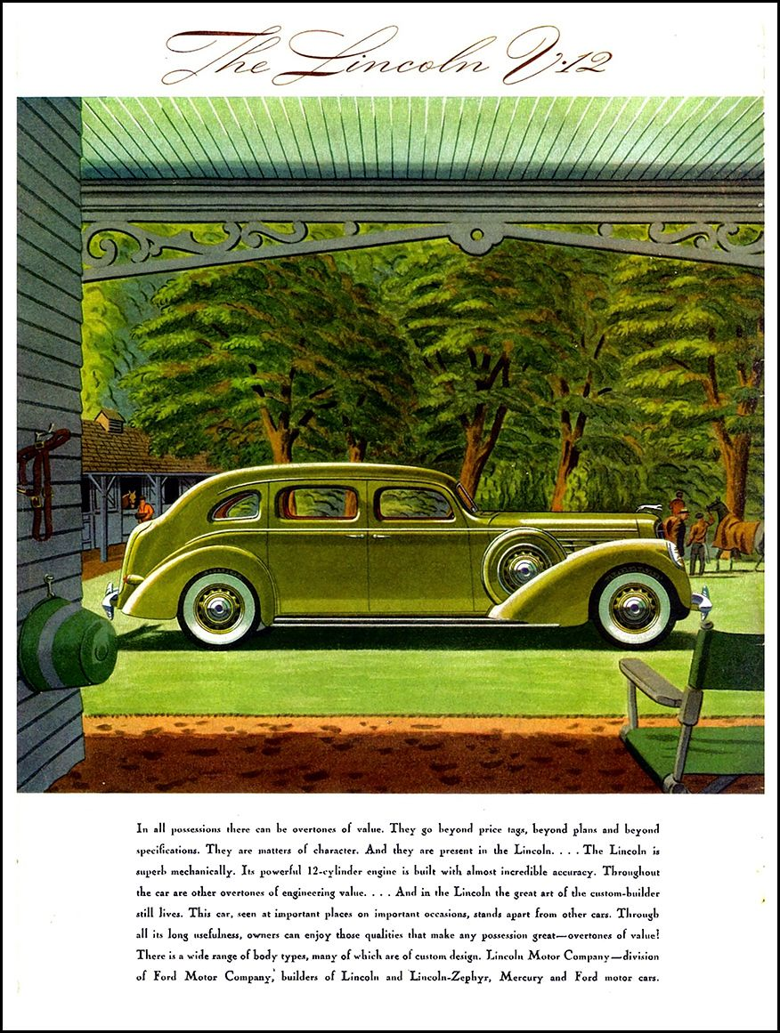 1939 Lincoln Model K Seven-Passenger Sedan Ad \