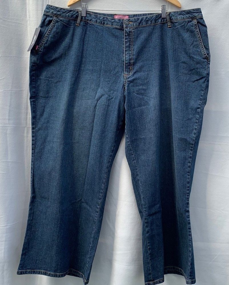 a029b238f64 Woman Within Women s wide leg modern fit Jeans Pant Plus Size 30W NEW   WomanWithin  Wide