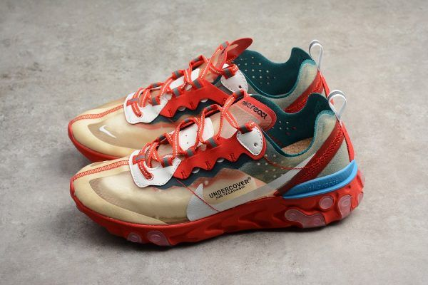 454e9728908065 Undercover x Nike React Element 87 Red Light Green Sail To Buy in ...