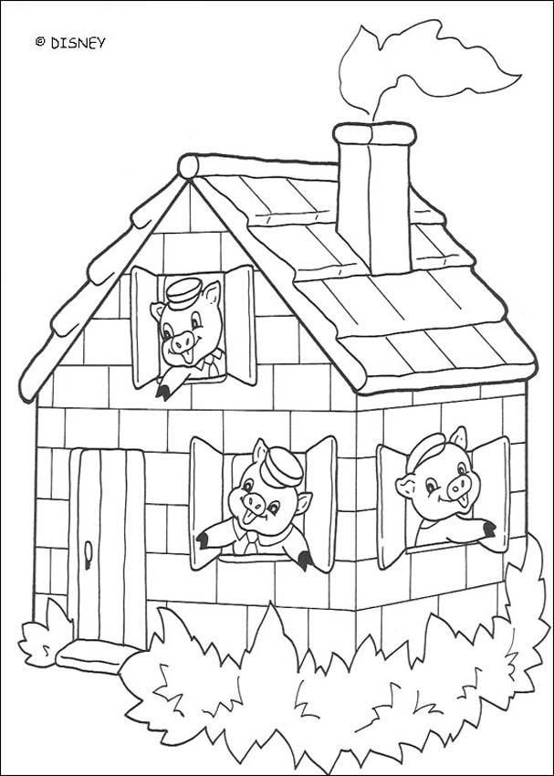 Three little Pigs coloring pages : 18 free Disney
