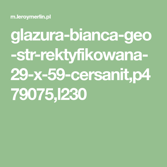Glazura Bianca Geo Str Rektyfikowana 29 X 59 Cersanit P479075 L230 Geo Math Math Equations