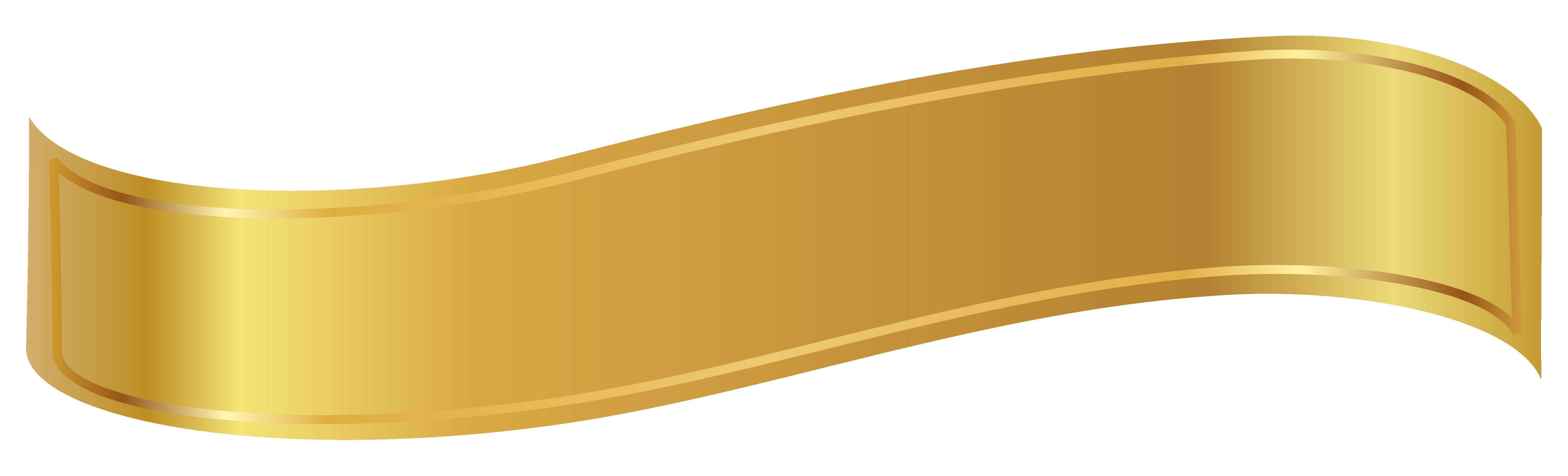 Gold Banner Png Clipart Image Gold Banner Clip Art Banner
