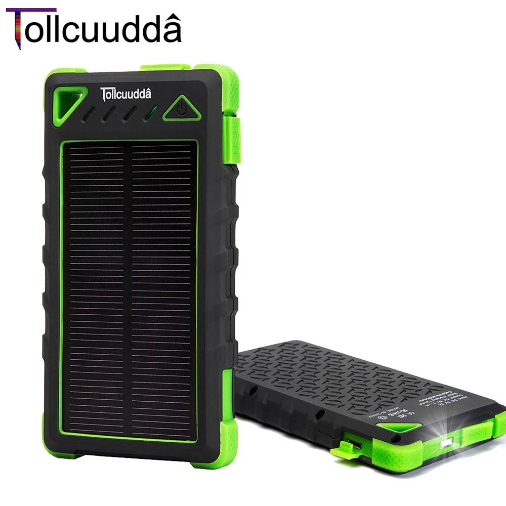 Special Prices 8000mah Portable Charging Outdoor External Solar Panels Battery Power Bank For Phones Universal Charger Battery Power Dual Usb M5olnkvw Blac
