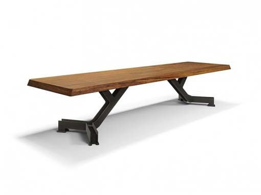 iron steel table Simple Wood Dining Tables