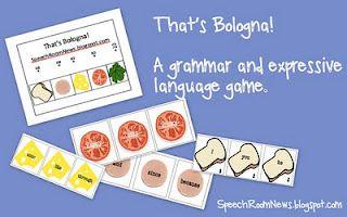 Speech Sandwiches- grammar and expressive language game