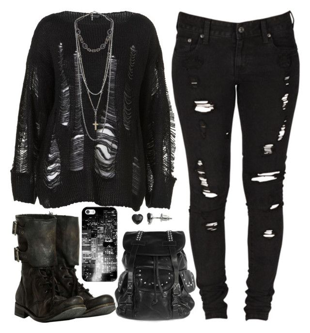 """Untitled #340"" by lo-mackenzie ❤ liked on Polyvore featuring AllSaints, Levi's, Casetify and SO"