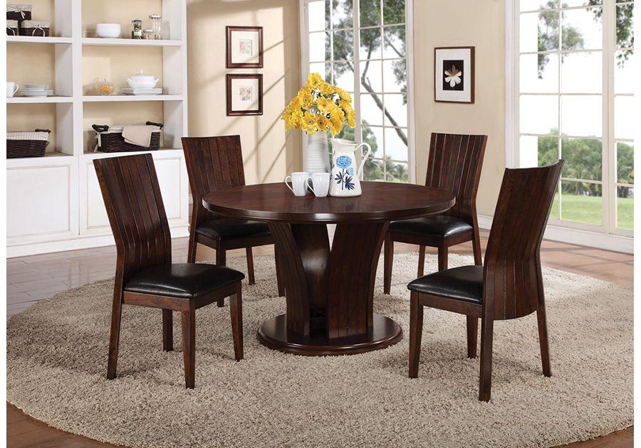 Daria espresso 5 pc dining room modern dining room set