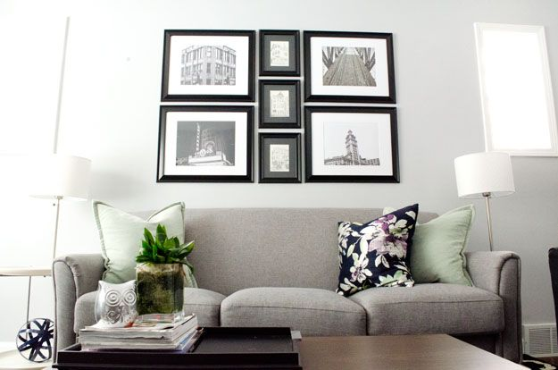 You can easily create your own gallery wall using images you took