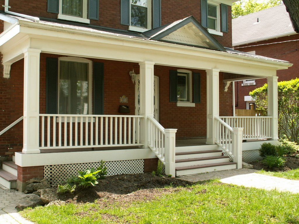 Front porch railing ideas google search porch railings for Wooden front porch designs