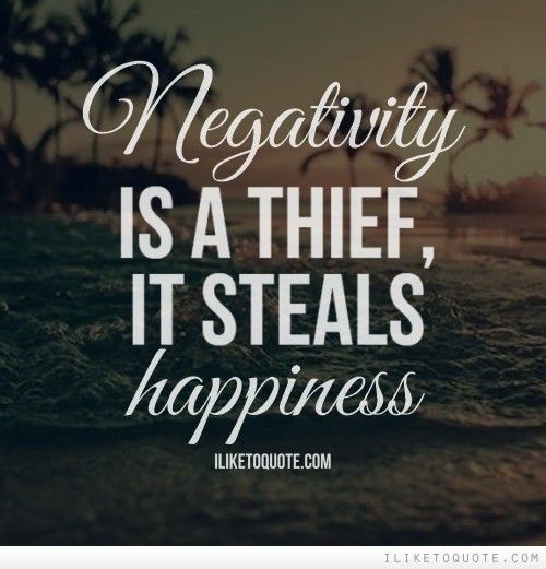 Negativity is a thief, it steals happiness. Apologizing