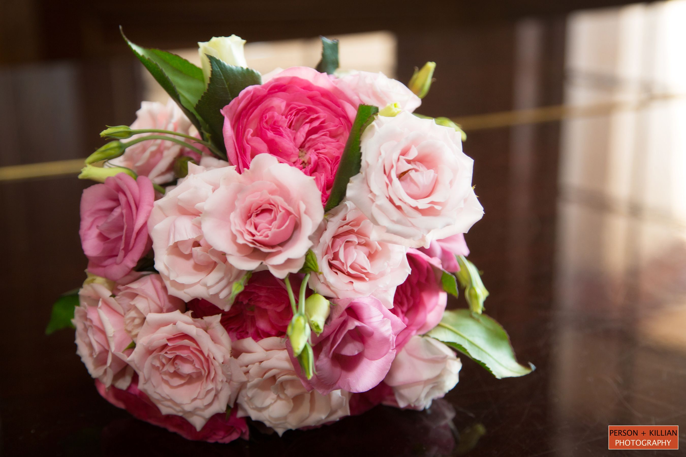 Bridal Bouquet Various Shades Of Pink Wedding Flower Inspiration