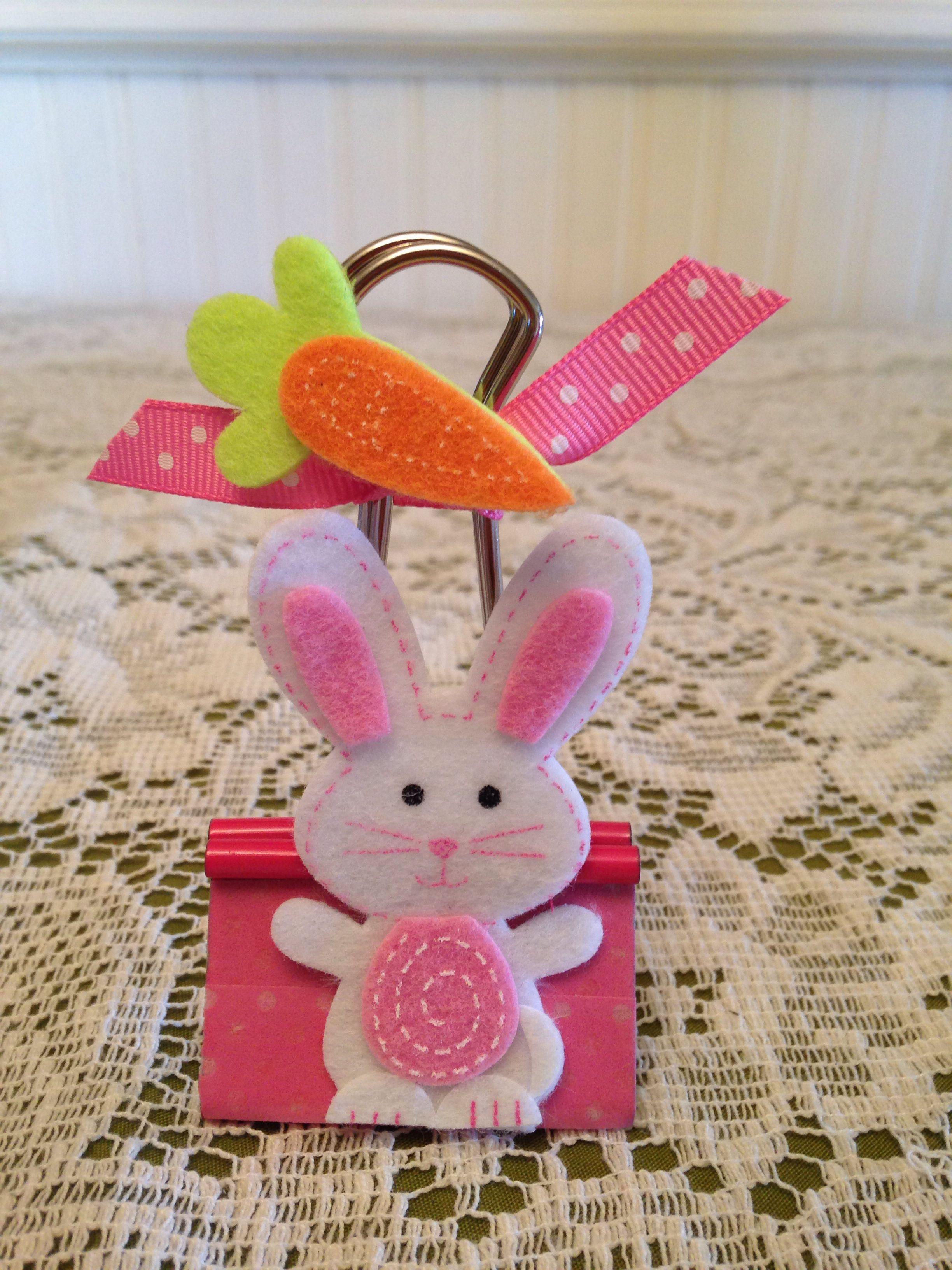 Easter Binder Clip Binder decoration, Paper clips diy